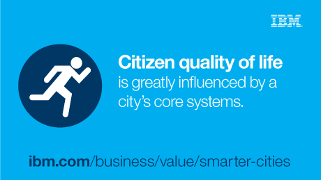 Citizen quality of life is greatly influenced by a city's core systems.