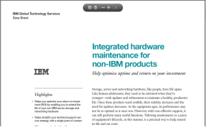 Integrated hardware maintenance for non-IBM products