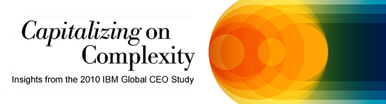 Capitalizing on Complexity: Insights from the 2010 IBM Global CEO Study.