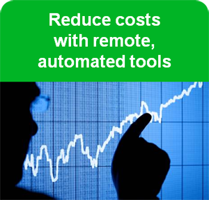 Reduce costs with remote, automated tools