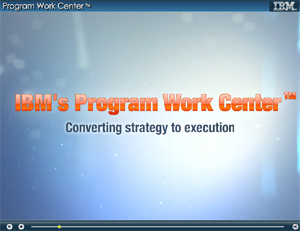 IBM's Program Work Center. Converting strategy to execution.
