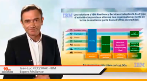 IBM Resiliency Services pour une entreprise « Always-on » (YouTube, 01:28)
