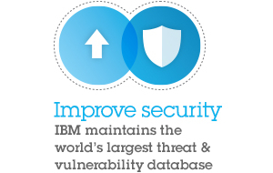 Improve security. IBM maintains the world's largest threat & vulnerability database.
