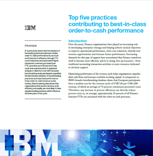 Top five practices contributing to best-in-class order-to-cash performance