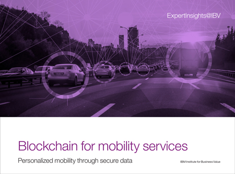 Blockchain for mobility services: Personalized mobility through secure data