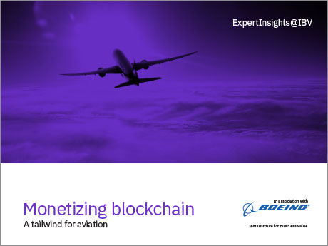 Monetizing blockchain: A tailwind for aviation