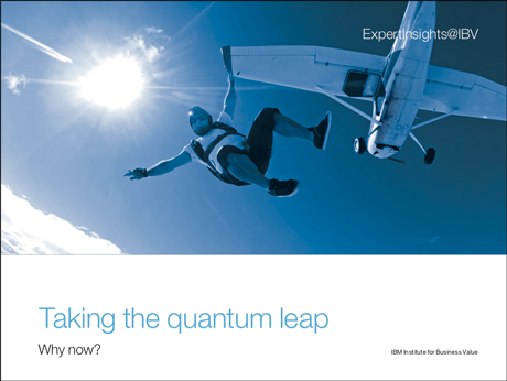 Taking the quantum leap: Why now?