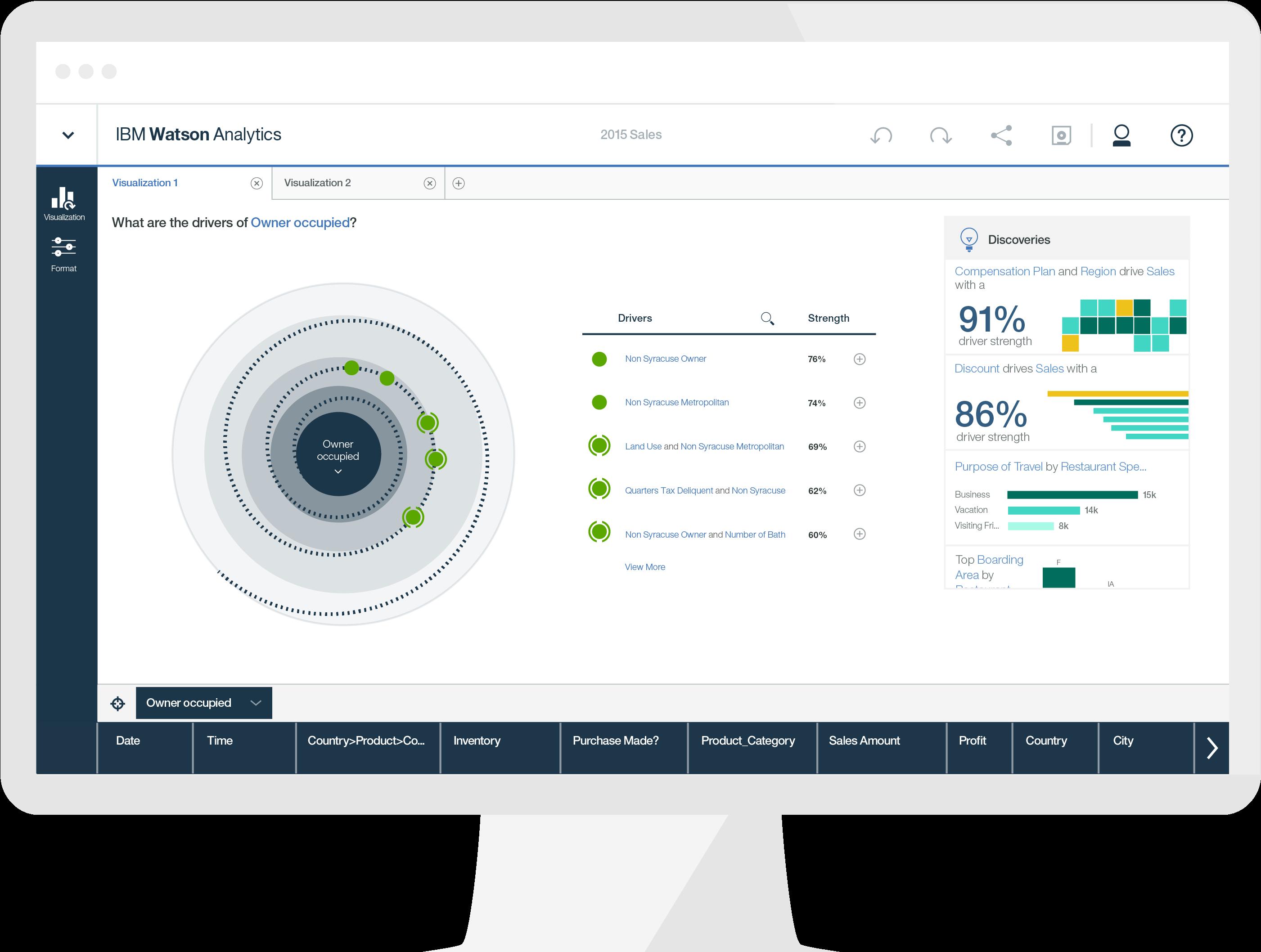Watson Analytics data visualization tool