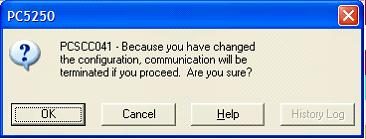 This print screen shows the dialog box for message PCSCC041.