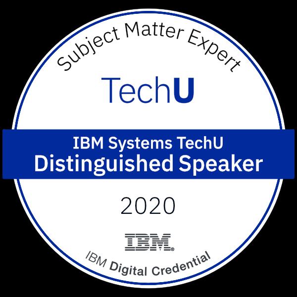 2020 IBM TechU Distinguished Speaker