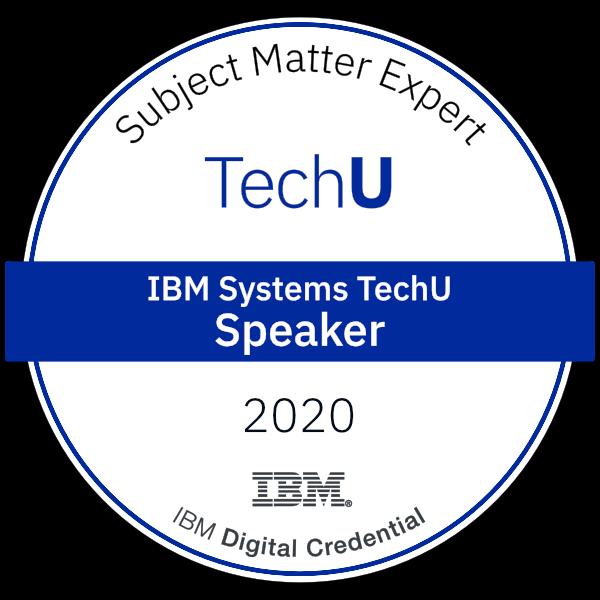 2020 IBM TechU Speaker Badge