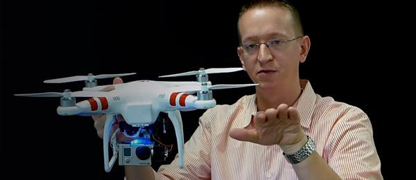 Boy meets drone. Drone meets Watson.